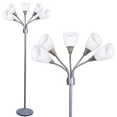 Light Accents Medusa Grey Floor Lamp