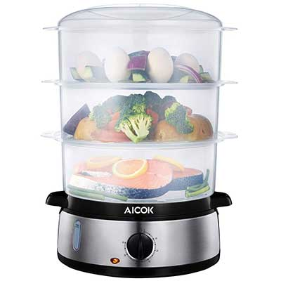 AICOK Food Steamer 9.5 Quart Vegetable Steamer