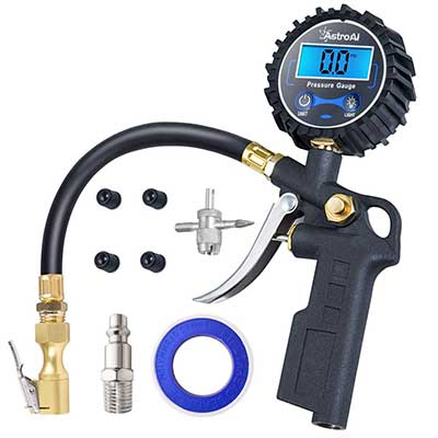 AstrAl Digital Tire Inflator with Pressure Gauge