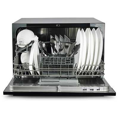 DELLA Portable Compact Countertop Dishwasher 6 Wash Cycles Dishwashers