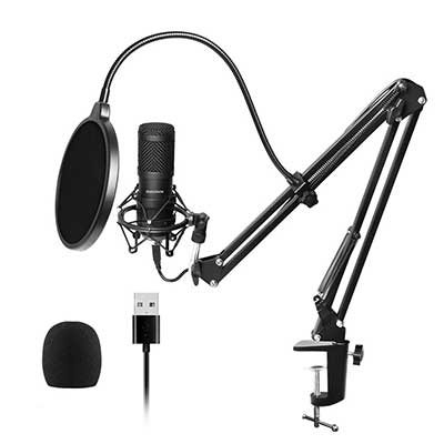USB Streaming Podcast PC Microphone, SUDOTACK