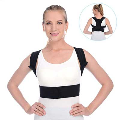 Anoopsyche Posture Corrector for Women Men Upper Back Brace
