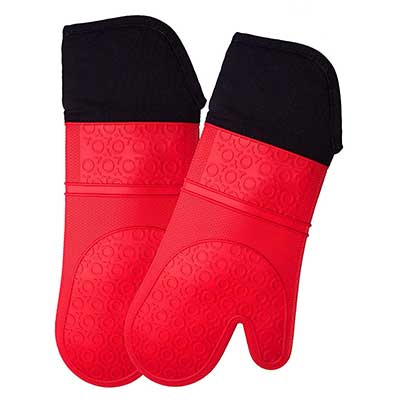 Extra Long Professional Silicone Oven Mitt