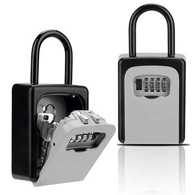 Key Lock Box, Combination Lockbox with Code
