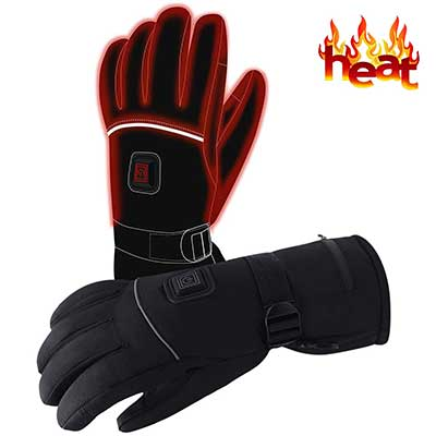 Autocastle Men Women Rechargeable Electric Warm Heated Gloves Battery Powered