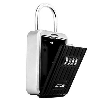 AUTSCA Key Lock Box Wall Mounted Stainless Steel Key Box