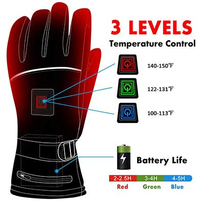 Electric Heated Gloves with Rechargeable Battery