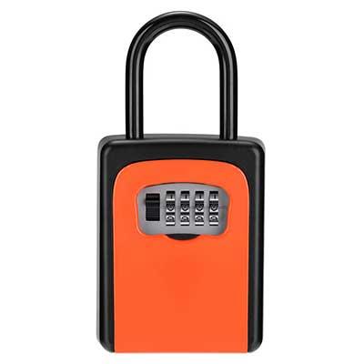 Key Lock Box, 4-Digit Combination Lock Box