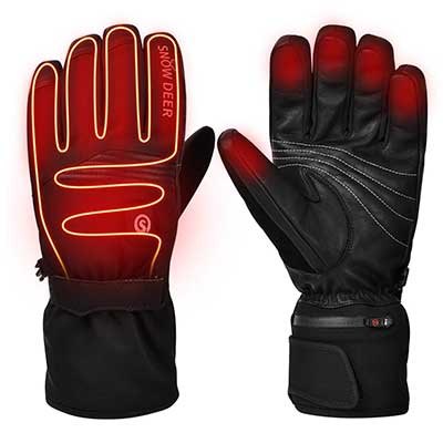 2019 Upgraded Heated Gloves, Motorcycle Gloves