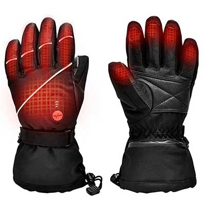 Upgraded Heated Gloves for Men Women, Electric Ski Motorcycle Snow Mitten Gloves
