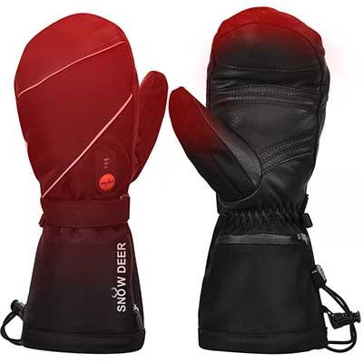 Heated Gloves for Men Women Heated Ski Gloves Mittens