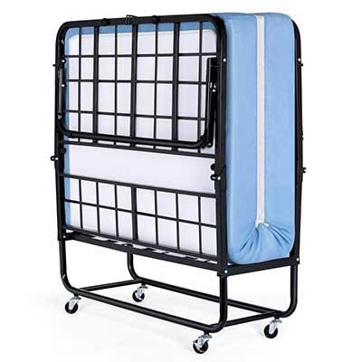 Inofia Foldable Folding Bed, Rollaway Extra Guest Bed