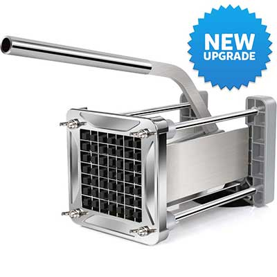 New Upgraded French Fry Cutter, LEOBRO Stainless Steel Potato Chipper Cutter