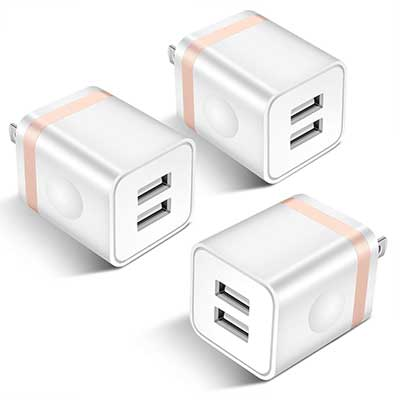 STELECH USB Wall Charger, 3-Pack