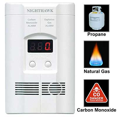 Kidde Nighthawk Plug-in Carbon Monoxide and Explosive Gas Detector