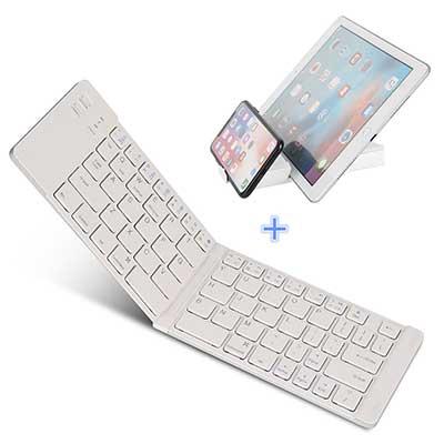 Foldable Bluetooth Keyboard, IKOS Ultra Slim