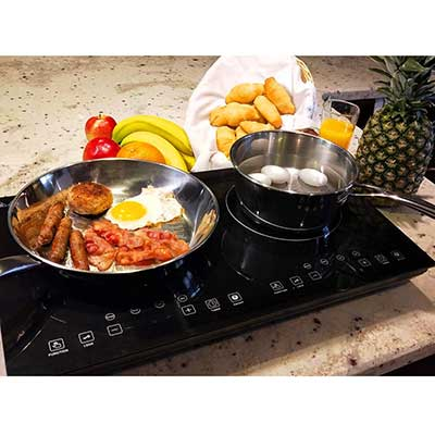 Evergreen Home 1800W Double Digital Induction Cooker Cooktop