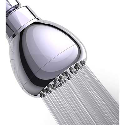 WASSA High-Pressure Shower Head 3-inch Anti-leak Fixed Chrome Shower Head