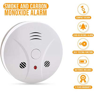 Combination Photoelectric Smoke Alarm and CO Detector