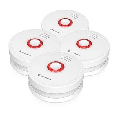 Siterlink 4 Packs Photoelectric Smoke Detector & Alarm
