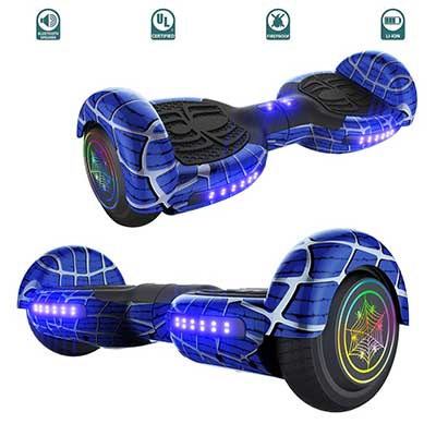 TechClic Spider Electric Hoverboard with Built-in Speaker