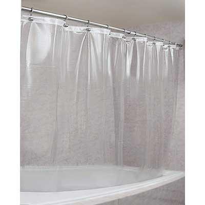 Heavy Duty Premium Quality 10-Guage Vinyl Shower Curtain Lin Mdesign Waterproof