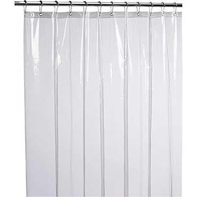 LiBa Mildew Resistant Anti-Bacterial Shower Curtain Liner