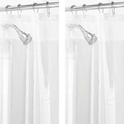 mDesign 2 Pack – Waterproof PEVA Curtain Liner
