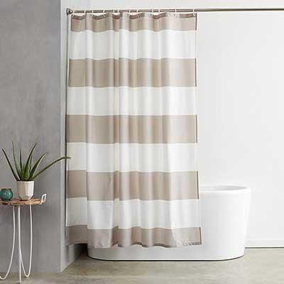 AmazonBasics Shower Curtain with Hooks