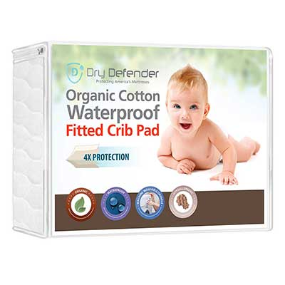 Organic Cotton Waterproof Fitted Crib Pad