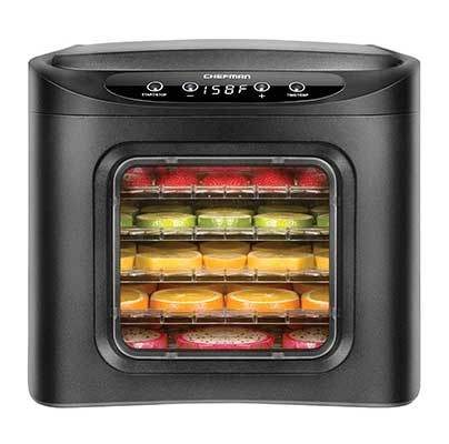 Chefman 6 Tray Food Dehydrator Machine with Digital Timer