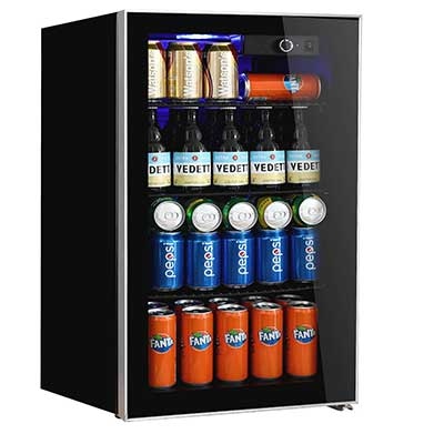 Beverage Refrigerator and Cooler, 113 Can Capacity