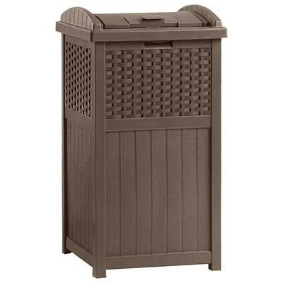 Suncast 33 Gallon Outdoor Trash Can