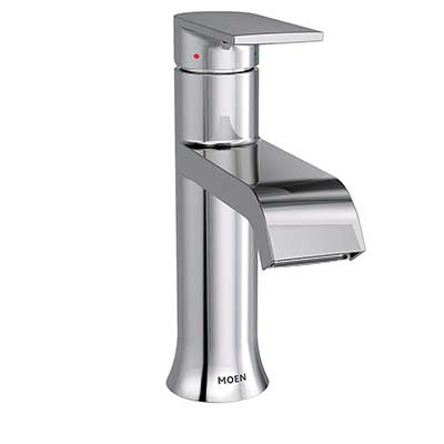 Moen 6702 Genta One-Handle Single Hole Modern Bathroom Sink Faucet