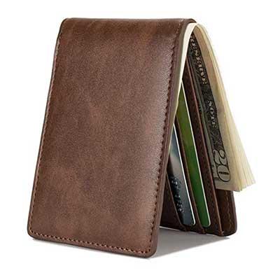 Mens Slim Front Pocket Wallet