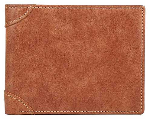 Men's Wallet – RFID Blocking Cowhide Leather