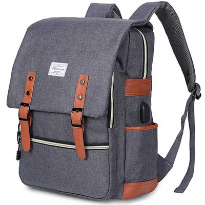 Modoker Vintage Laptop Backpack for Women Men
