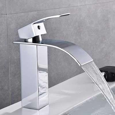 Chrome Bathroom Faucet Waterfall Single Handle