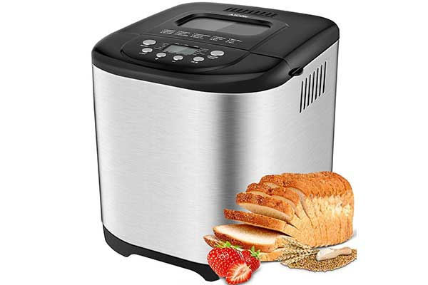 Loaf Compact Automatic Bread Maker Versatile Vertical Baking Pan Cuisinart 2lb