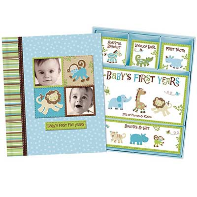 Baby Boy Memory Book Hardcover Record Baby's First 5 Years