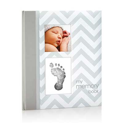 Pearhead First 5 Years Chevron Baby Memory Book