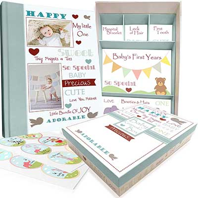 Baby Memory Book with Keepsake Box