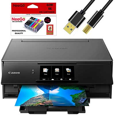Canon Wireless Pixma Inkjet All-in-One Printer with Scanner
