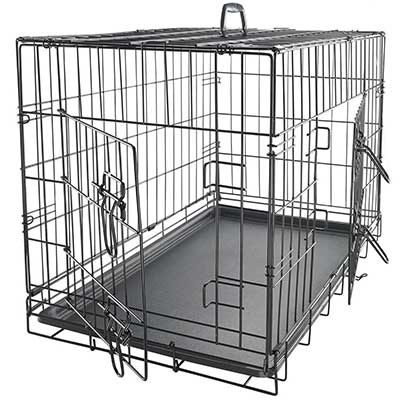 Paws and Pals Dog Crate Double-Door Folding Metal Dog Cage