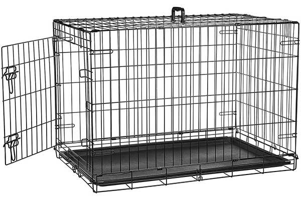 AmazonBasics Single & Double Door Folding Metal Dog Crate