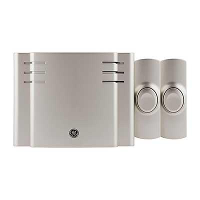 GE, Satin Nickel, Wireless Doorbell Kit, 8 Melodies