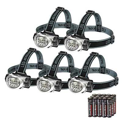 EverBrite 5-Pack LED Headlamp Flashlight