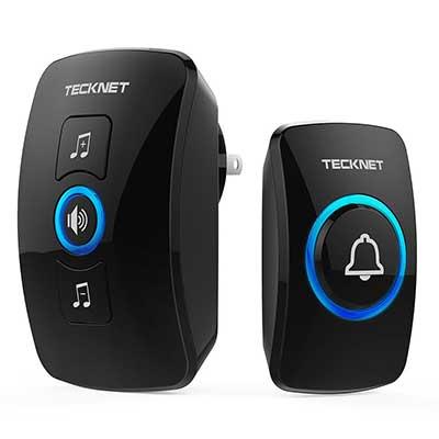 Wireless Doorbell, TeckNet Waterproof Wireless Door Bell Chime Kit