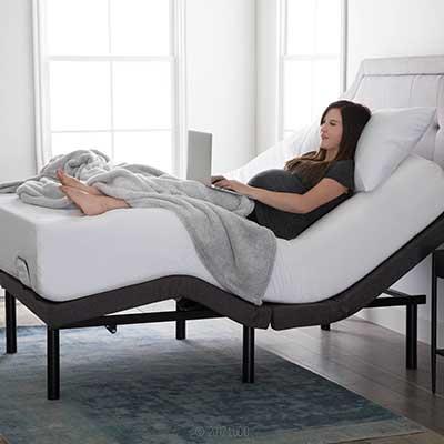 LUCID L300 Ergonomic Upholstered Remote Control Bed
