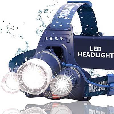 DanForce Headlamp. USB Rechargeable LED Head Lamp